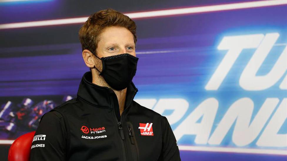 Romain Grosjean, cuando era piloto de la escudería Haas. EFE