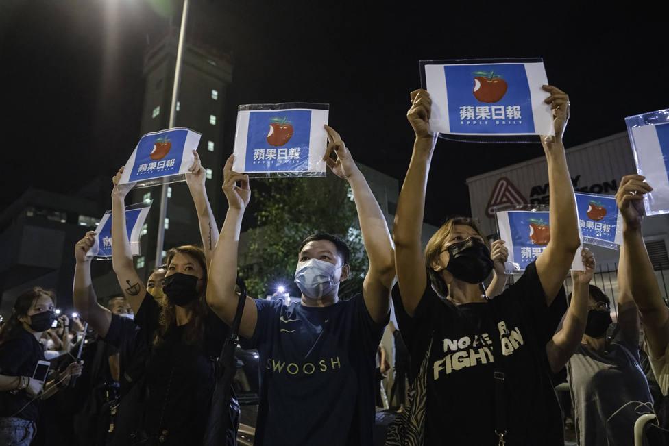 Apple Daily publica su última edición tras el bloqueo sufrido por parte de las autoridades de Hong Kong