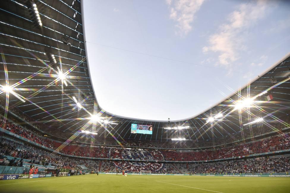 Estadio Allianz Arena durante el Bélgica - Italia de cuartos de final de la Euro 2020