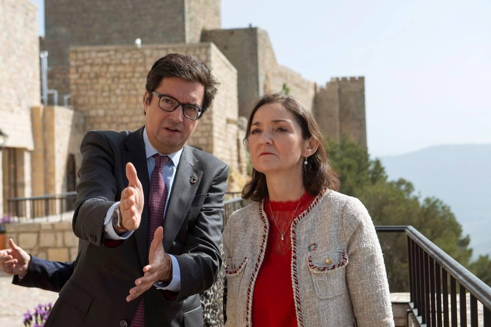 Óscar López, nuevo jefe de gabinete de Sánchez en una foto con la ministra Reyes Maroto