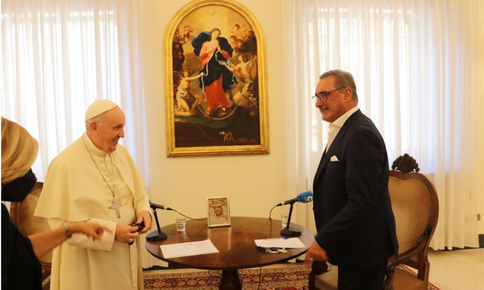 La televisión pública italiana, la RAI, destaca en sus informativos la histórica entrevista de Herrera al Papa