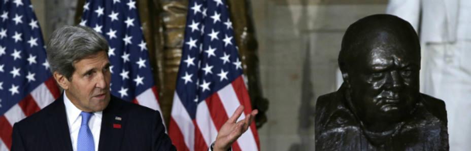John Kerry durante un discurso en el hall del Capitolio (Reuters)