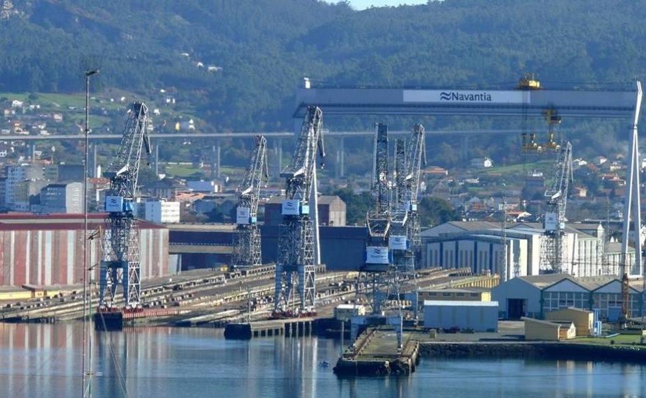 Foto de archivo del astillero de Navantia Fene