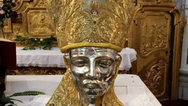imagen de la Cabeza de San Gregorio Ostiense