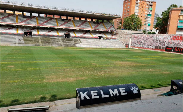 El estadio de Vallecas, del Rayo Vallecano
