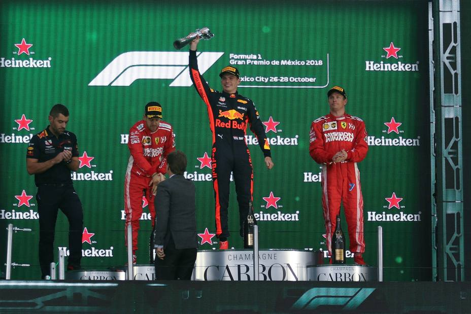 Podio GP de México de Fórmula 1