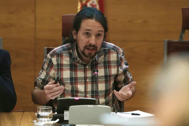 Pablo Iglesias comparece en la Comisión de investigación en el Senado