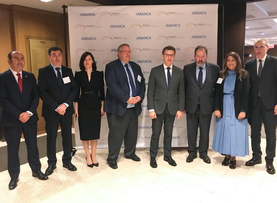 Abanca presenta su estrategia internacional en un acto con empresarios en Nueva York