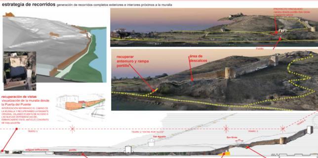 Proyecto de rehabilitación del paño de muralla de Soria
