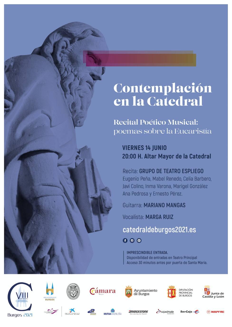 Cartel ciclo Contemplación Catedral