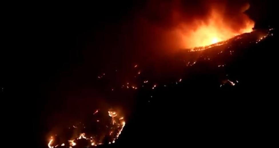Imágenes del incendio de Artenara