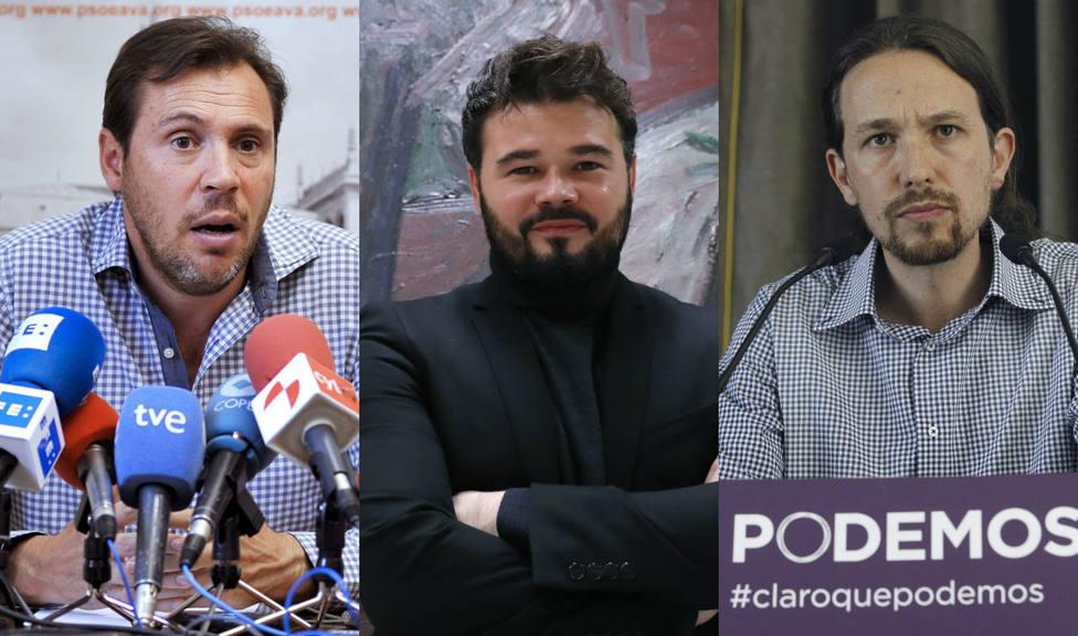El 'vergonzoso' mensaje de un socialista que ha hecho que la derecha aplauda a Rufián y Pablo Iglesias
