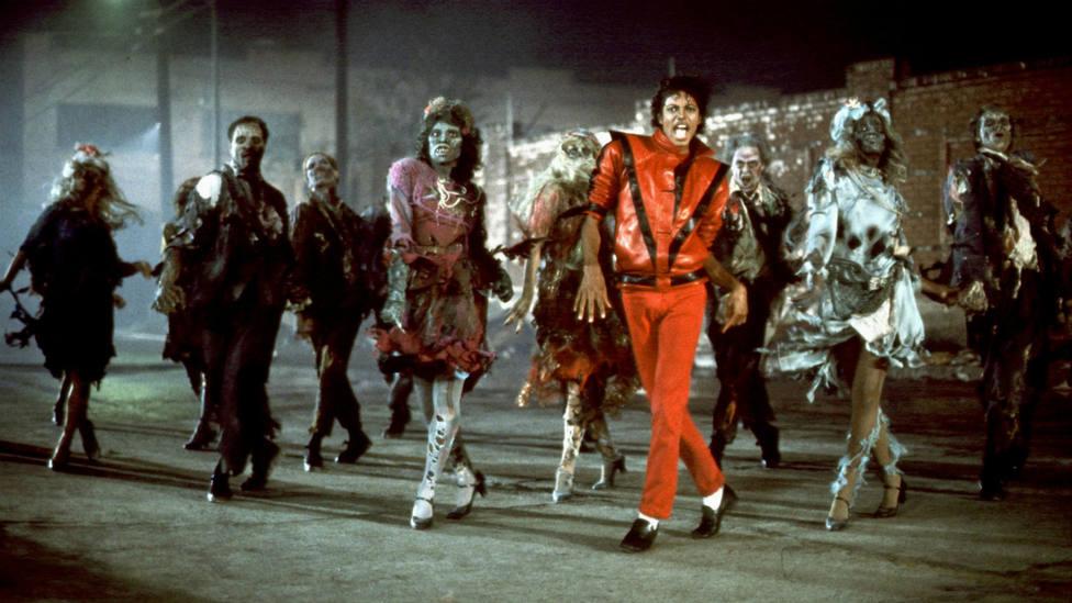Escena del videoclip Thriller de Michael Jackson