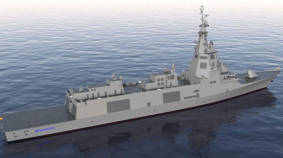 Recreación virtual de las futuras fragatas F-110 para la Armada Española - FOTO: Navantia