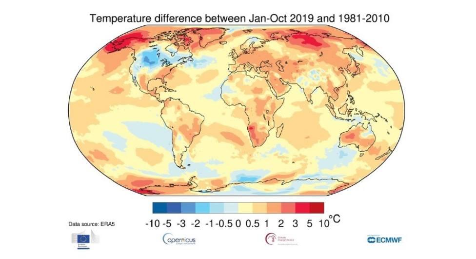 AEMET dice que en España la temperatura ha aumentado 1,7ºC hasta 2019 y que desde 1970 cada década es más calida