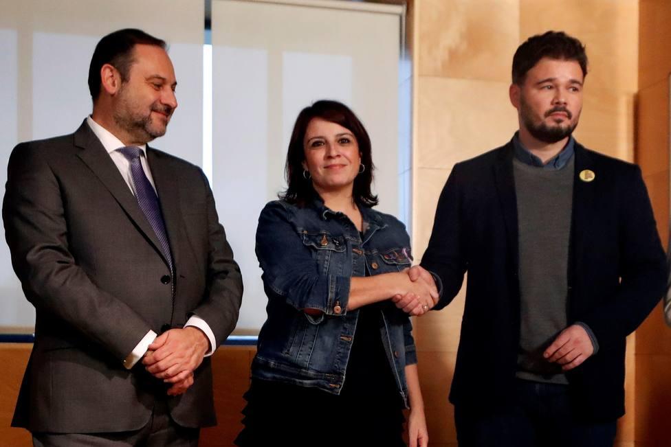 Comienza la reunión entre PSOE y ERC para propiciar la investidura de Sánchez