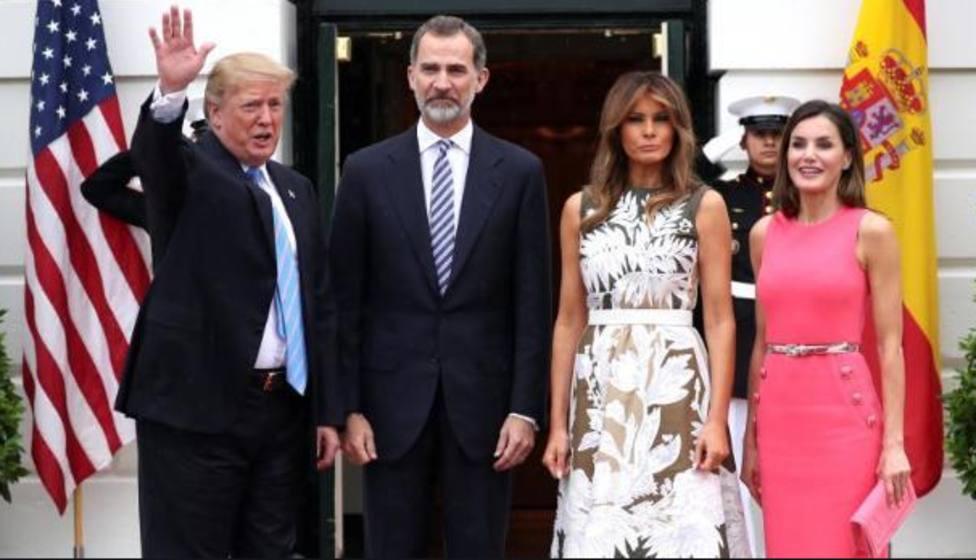 Donald y Melania Trump junto a los Reyes de España