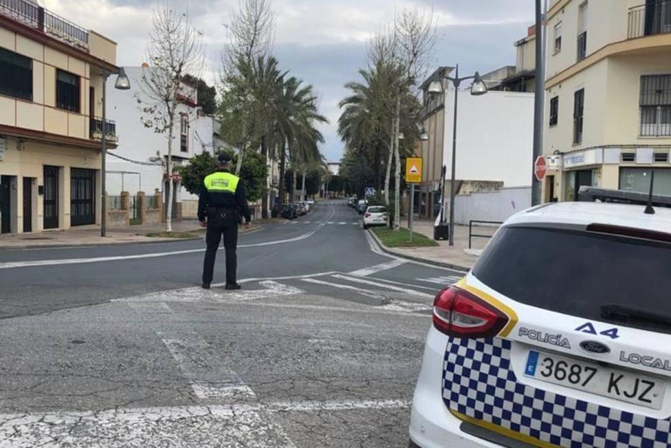 Actuación policial en Alcalá de Guadaíra