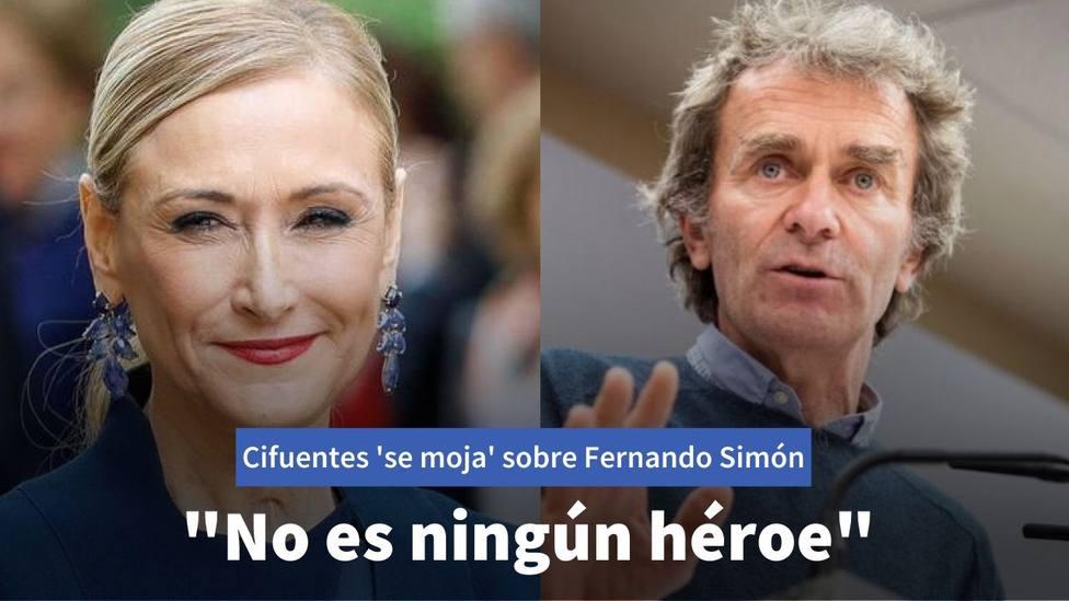 Cristina Cifuentes y Fernando Simón