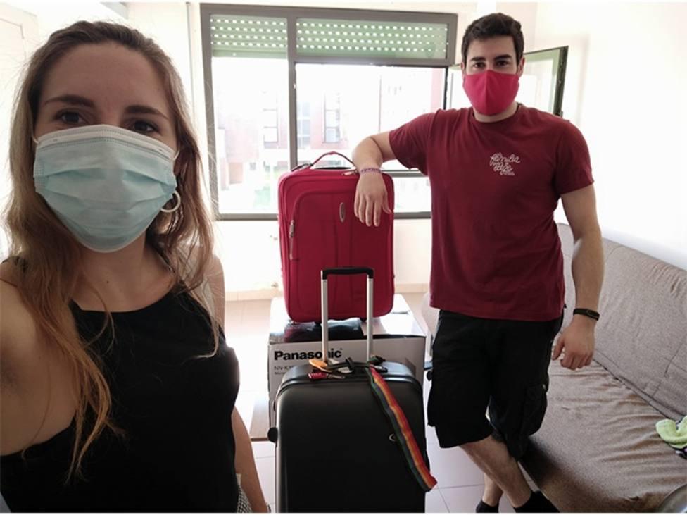 Regresan a casa también los enseres de los estudiantes ERASMUS