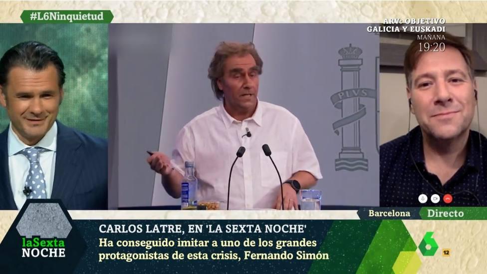 Carlos Latre halaga a Fernando Simón después de todas la críticias que ha recibido por imitarle