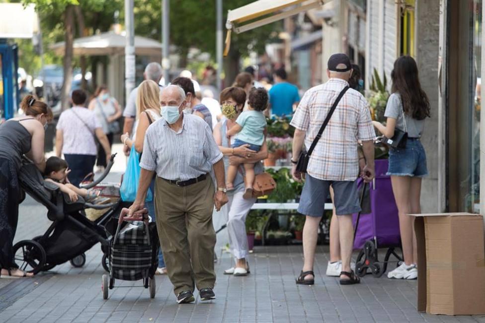 Aspecto de una calle del barrio de El Carmel de Barcelona