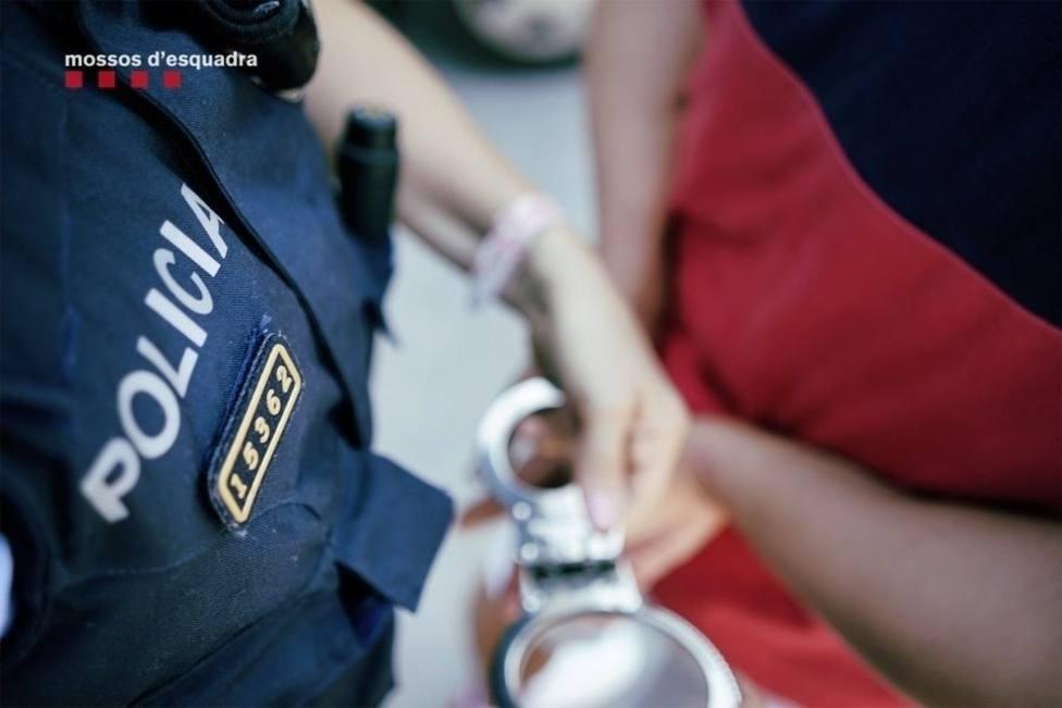 Una detención de los Mossos dEsquadra