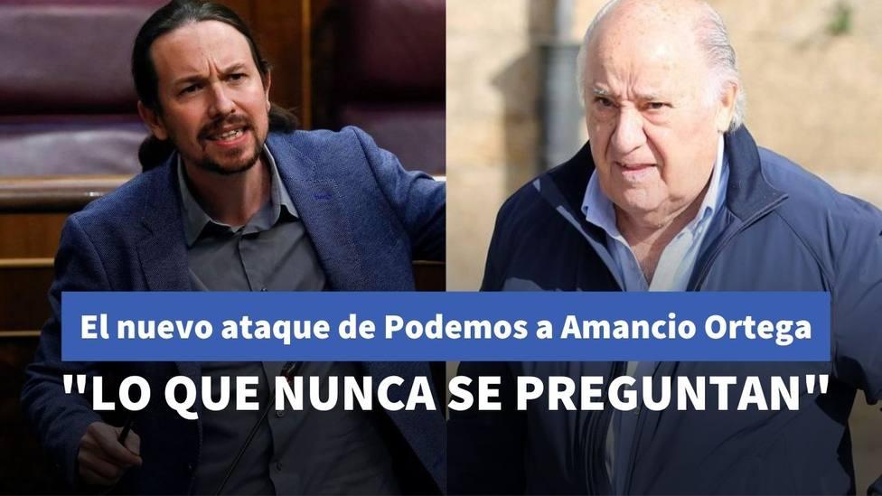 Pablo Iglesias y Amancio Ortega