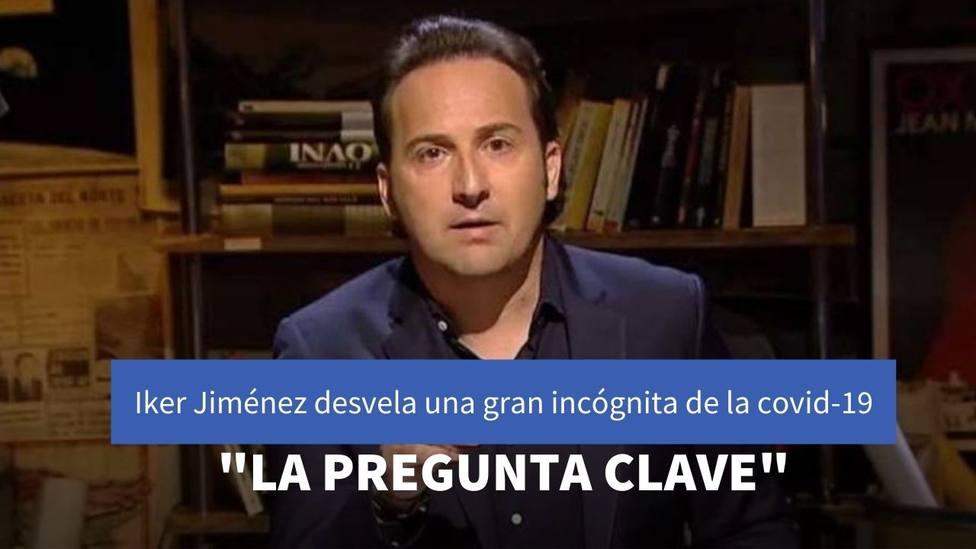 Iker Jimenez destapa en Telecicno el principal motivo por el que han aumentado los casos de la covid-19