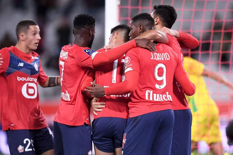 JOIE - FAIR PLAY - EQUIPE DE FOOTBALL DE LILLE FOOTBALL : Lille vs Nantes - Ligue 1 Uber Eats - 25/09/2020 FEP/Panorami