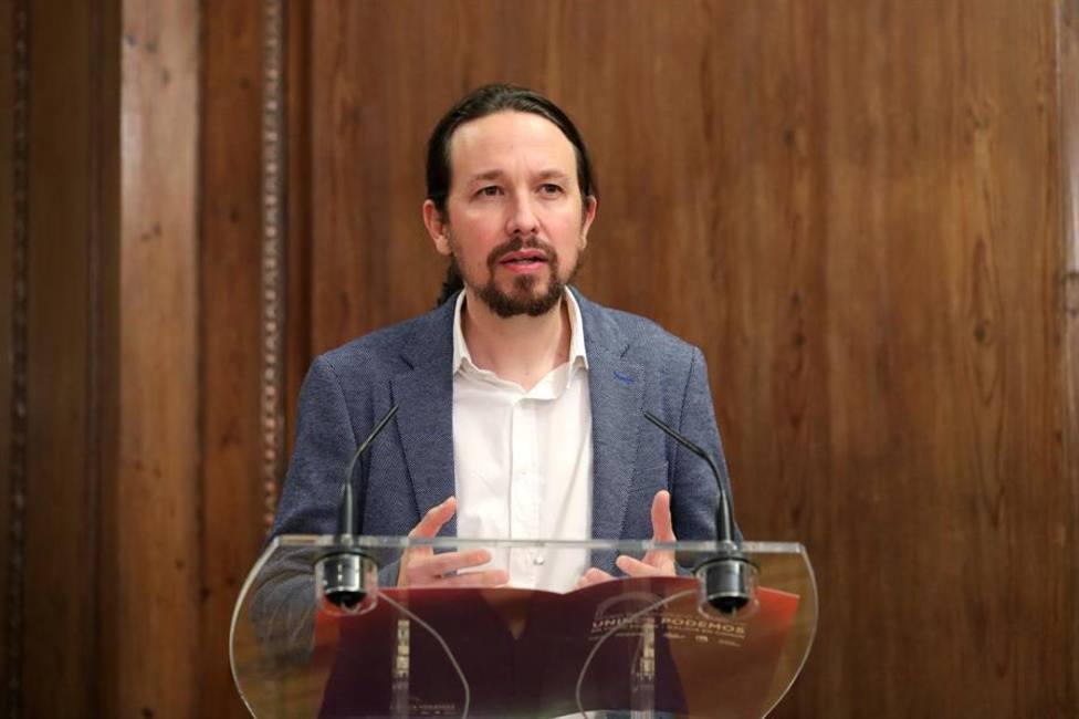 El viceprersidente segundo y líder de Podemos, Pablo Iglesias