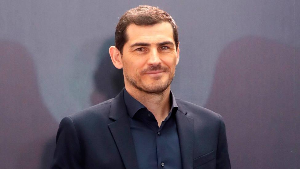 Iker Casillas, durante la presentación de Colgar las alas, de Movistar. EFE