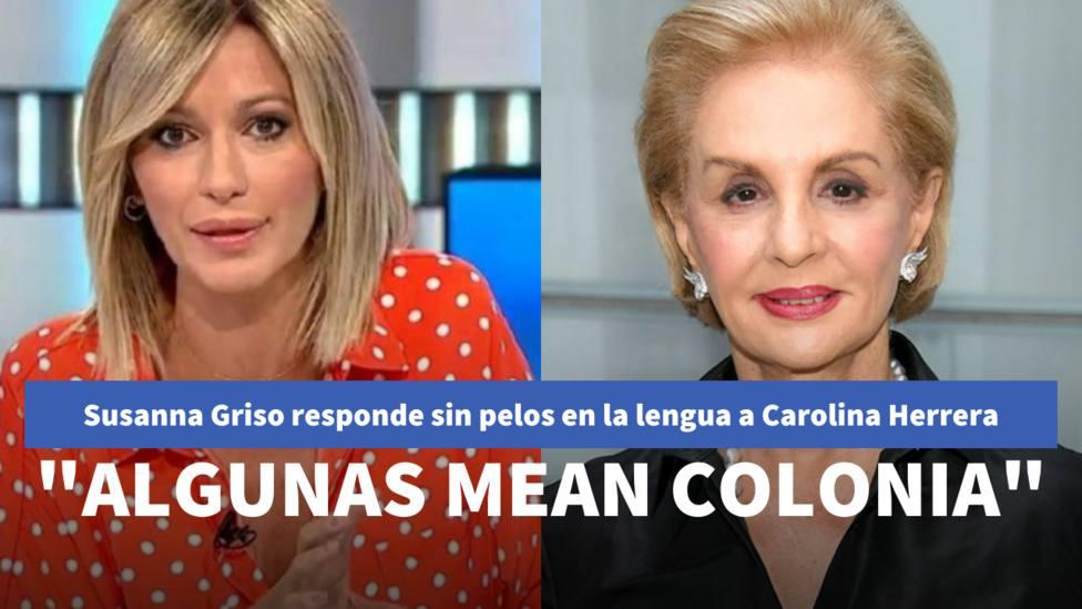 Susanna Griso y Carolina Herrera