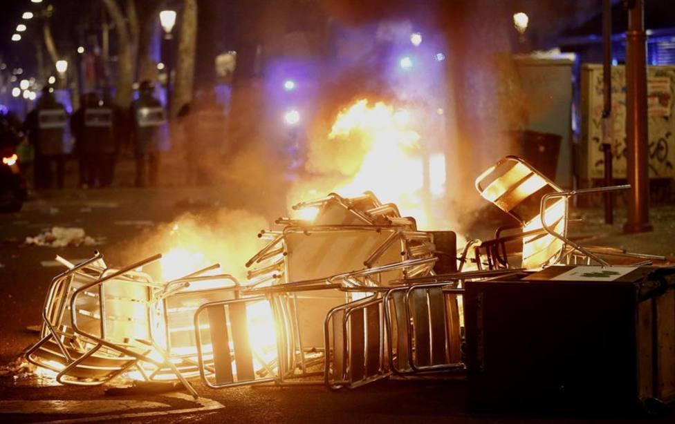 Los daños de los altercados de Barcelona se estiman en 128.000 euros