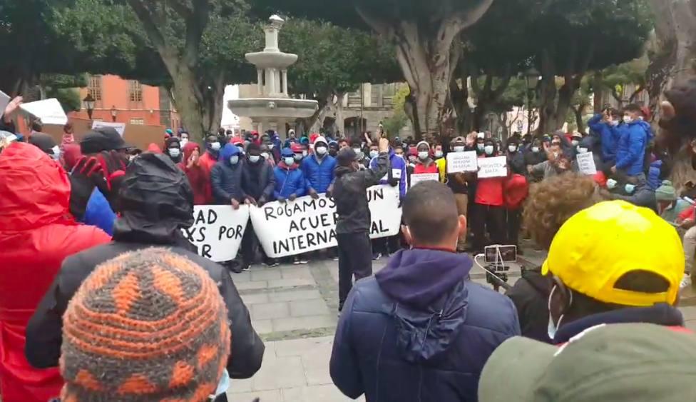 Manifestación inmigrantes La Laguna