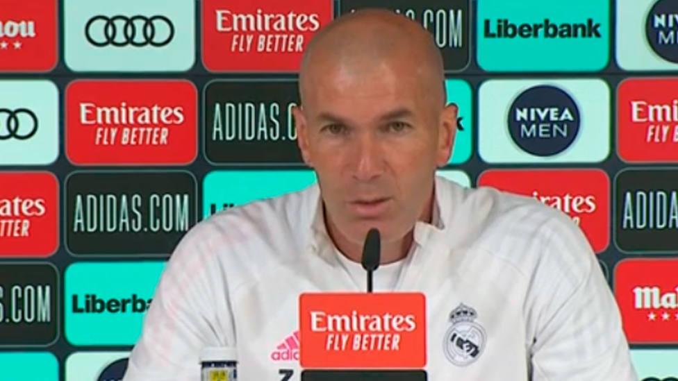 Zinedine Zidane, en rueda de prensa (IMAGEN: Real Madrid)