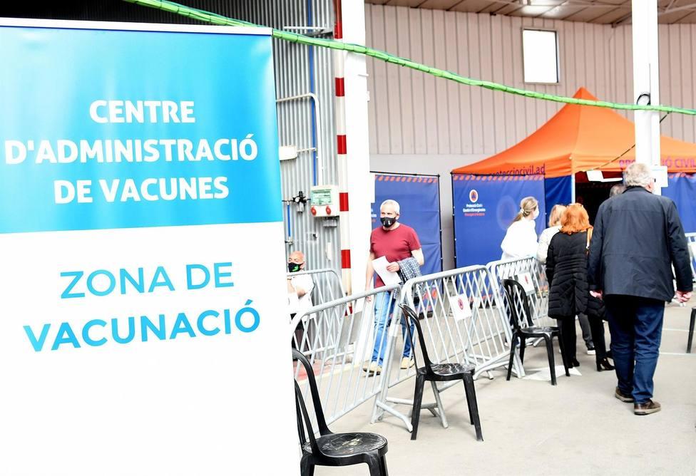 El centro de administración de vacunas en Andorra la Vella - GOVERN DE ANDORRA (SFG)