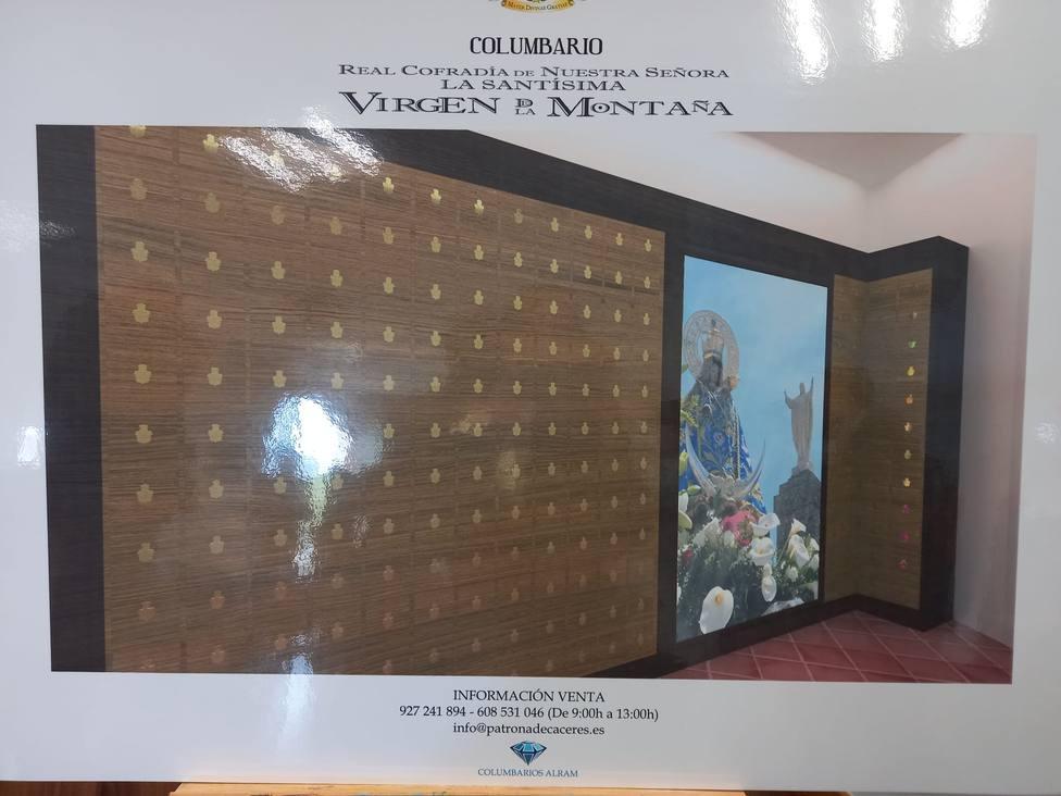 Imagen del proyecto de columbario en el santuario de la Virgen de la Montaña