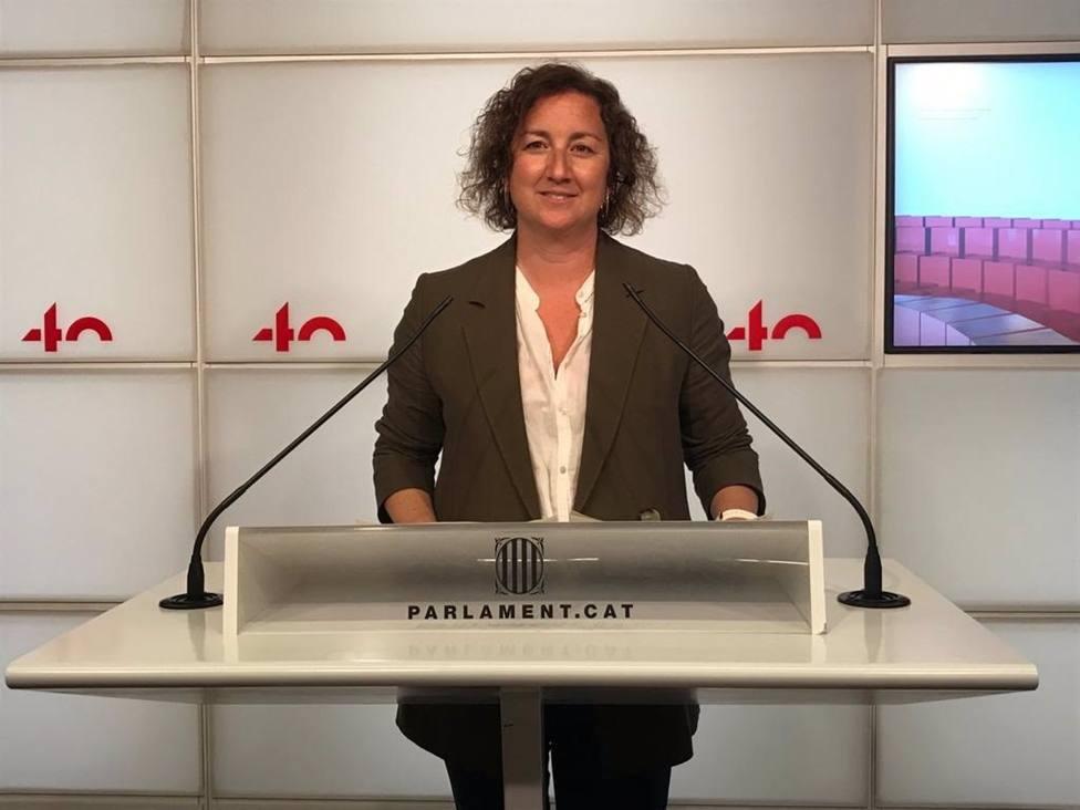 La portavoz del PSC en el Parlament, Alícia Romero