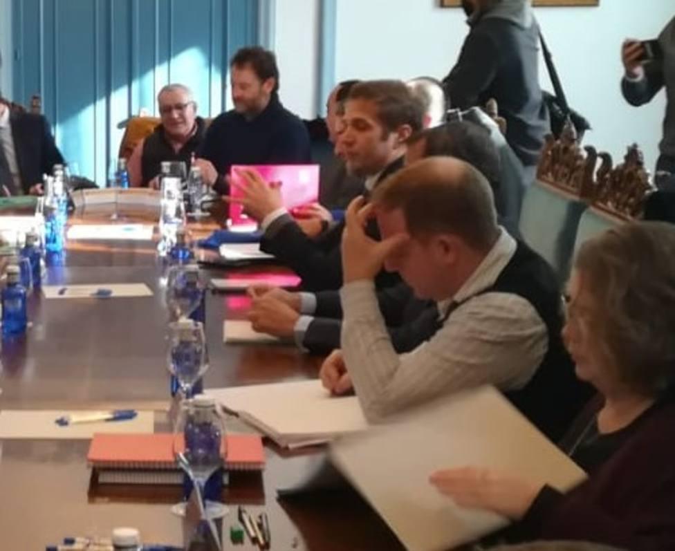 Reunión del comité de empresa con Alcoa en la Subdelegación del Gobierno en Lugo