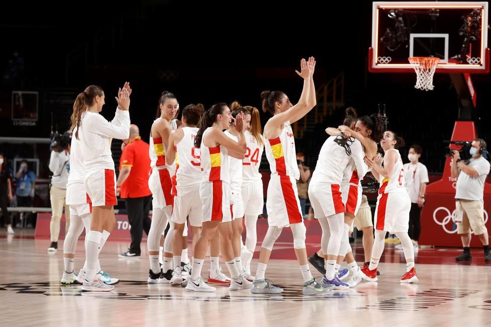 La selección española femenina de baloncesto en Tokio 2020