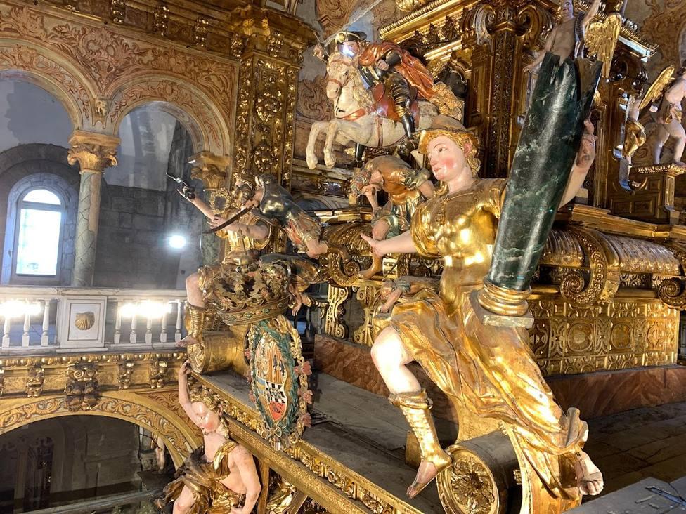 Las esculturas de la Catedral de Santiago han sido restauradas recientemente