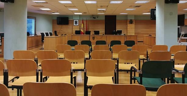 Sala de vistas del Palacio de Justicia de Pamplona