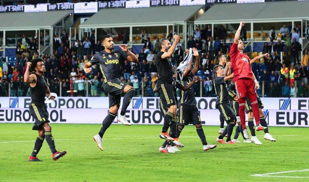 Los jugadores de la Juventus tras el partido