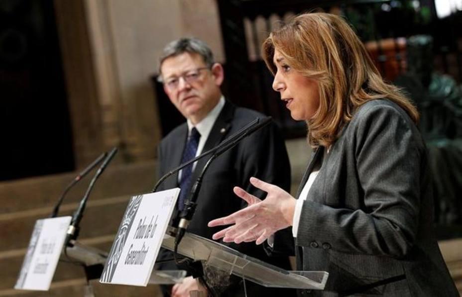 Ximo Puig con Susana Diaz en un acto en el Palau