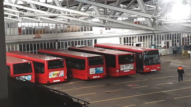 Buses en la Compañía de Tranvías