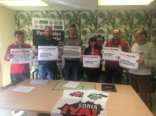Soria Ya presenta la manifestación convocada el 31 de marzo en Madrid junto a Teruel existe