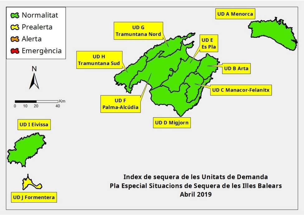 Las reservas hídricas de Baleares siguen cayendo y están al 60 %
