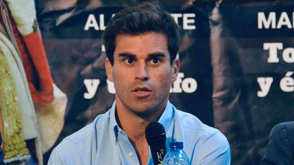 Rubén Pinar durante la presentación de su encerrona el próximo 8 de septiembre en Albacete