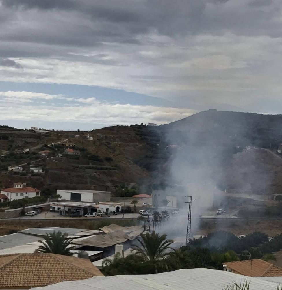 Incendio en granja de Molvízar esta mañana